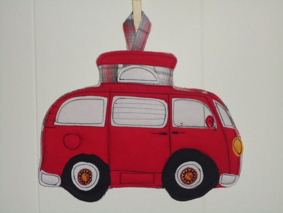 VW Camper Bus Potholder, Camping Series Potholder, Pick a Color