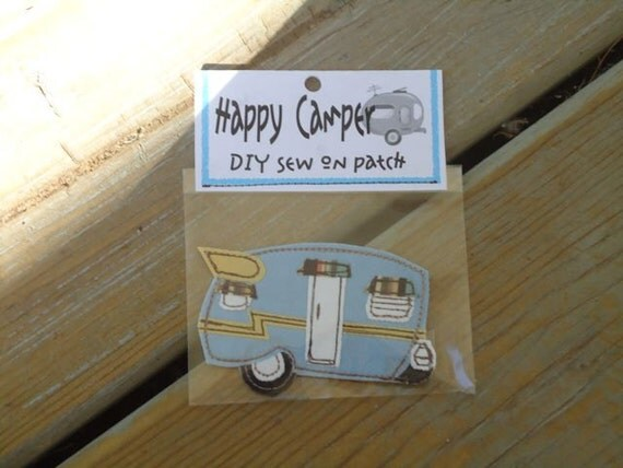 Happy Camper, sew on Shasta patch, DIY