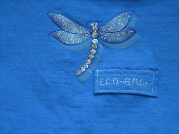 Dragonfly Recycled t-shirt bag,Holiday Special, Bundle 3 or more bags save 1.00 per bag, get details in description