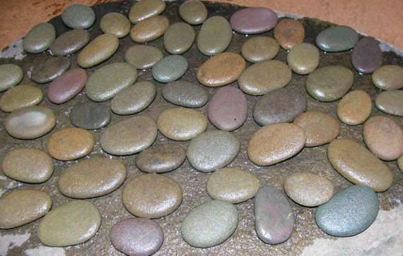 50 river rocks all natural flat oval nice size for your crafts for Where to buy flat rocks for crafts