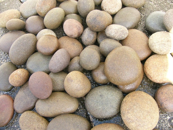 River Rocks Large Mixed Lot Chubby Small Rounded Natural Stones Lot 91B