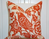 Decorative Pillow Cover 20 x 20 INCH - Designer Thomas Paul for Duralee - Throw Pillow - Accent Pillow -Tangerine