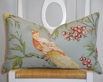Decorative Pillow Cover - DURALEE - Bird - Throw Pillow - Accent Pillow - Yellow - Green - Pink - Red - Orange - Lumbar
