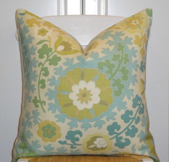 Beautiful Decorative Throw Pillows : Beautiful Decorative Pillow Cover 20x20 Floral Throw