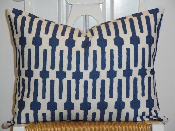 Decorative Pillow Cover 14 x 18 Inch - Designer Fabric - Accent Pillow - Throw Pillow - Indigo