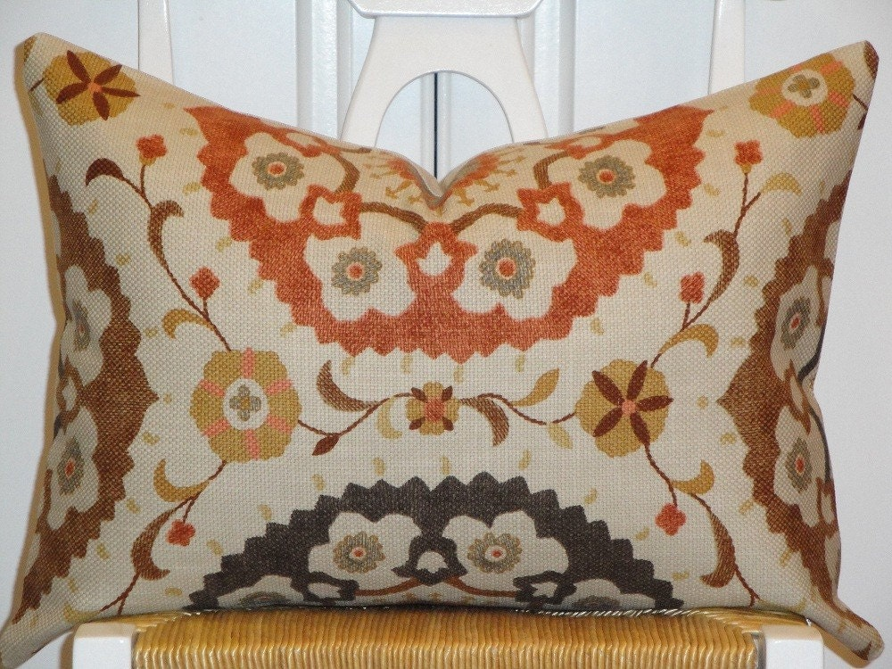 Decorative Pillow Cover 14 X 20 Inch Designer Fabric