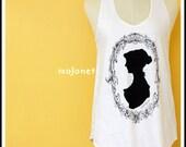 Monochrome Woman Cotton Sleeveless Tank Top, Racerback, Free Size