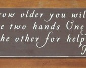 Abraham Lincoln As you grow older you will discover Inspirational Wooden Sign  ...6 x 27 You Pick Colors
