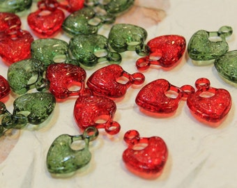 Lot of 20 pcs - Plastic Heart Shaped Findings