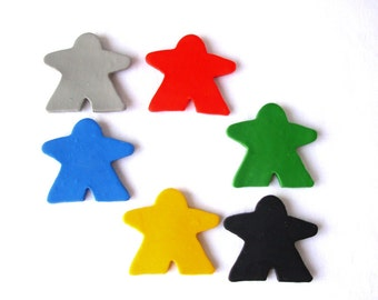 Carcassonne Meeple Magnets, set of 6