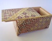 Japanese Puzzle box (Himitsu bako)-5sun(150mm.6.0inch) Open by Standard 7steps Yosegi