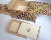 Japanese Puzzle box (Himitsu bako)- 6inch(150mm) 10steps Hidden Drawer & Nested box