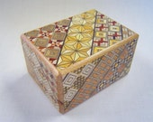 Japanese Puzzle box (Himitsu bako)- 3.5inch(90mm) Open by Standard 12steps Yosegi