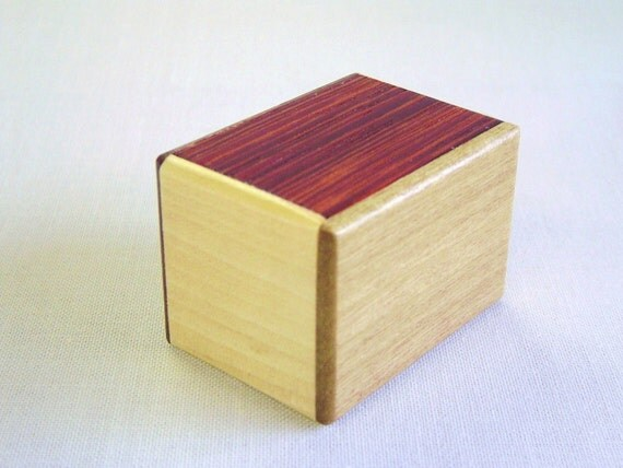 Japanese Puzzle box (Himitsu bako)- 1.7inch Open by 22steps 6kind Pure Wood