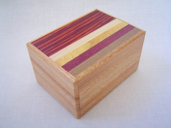Japanese Puzzle box (Himitsu bako)- 3.5inch Open by 12steps Pure Kusu Wood