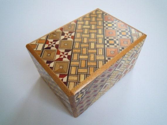 Japanese Puzzle box (Himitsu bako)- 3.5inch Open by Standard 12steps Yosegi