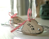 Custom Mr. and Mrs. Wedding Wine or Champagne Charms