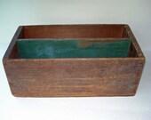 Old Box, Storage Box, Wood, Green Paint