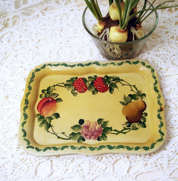 Tole Tray Hand Painted