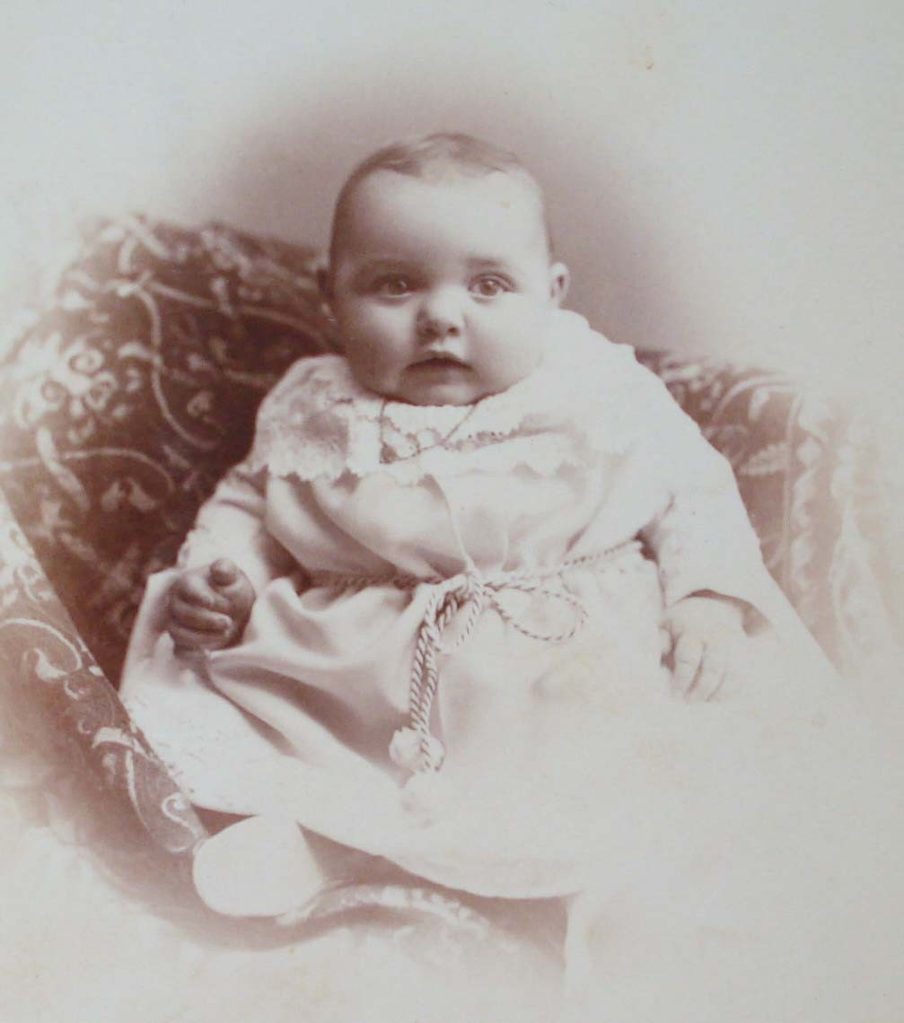 Antique Photograph 1800s Baby S First Christmas