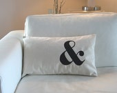Ampersand Pillow Cover in Cream