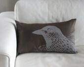 Pretty Bird Pillow Cover in Chocolate