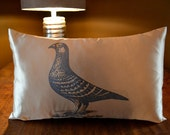 Pigeon Partridge Pillow Cover in Light Gold