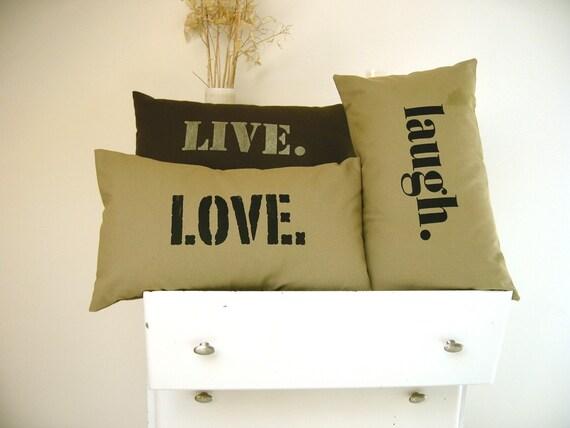 Love Pillow Cover in Khaki