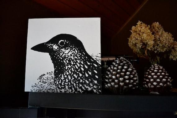B. Poetic Pretty Bird Art Canvas