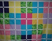 Rainbow Sherbet - Unfinished Quilt Top