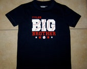Embroidered - Personalized Baseball Big Brother Shirt or Bodysuit - Choose short or long sleeve