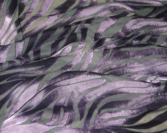 Silk Scarf, Hand Dyed , Green / Purple - Seductive Spring Swirl