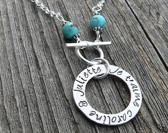Mothers' Circle Necklace - Limited Turquoise & Sterling Edition