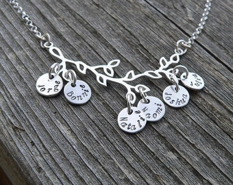 Branches of My Family...Sterling Necklace