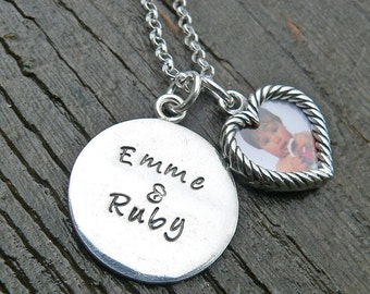 Personalize It Tag and Photo Necklace