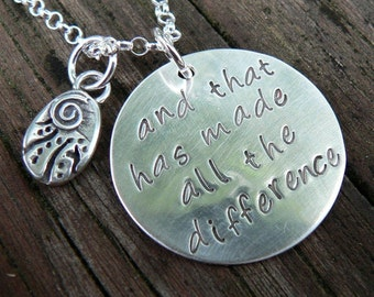 The Road Less Traveled - A Necklace
