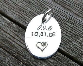Add a Small Round or Oval Tag to Your Birth Designs Necklace
