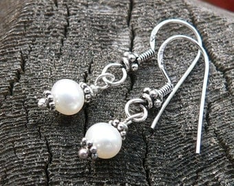 Simply Pearl and Sterling Earrings...
