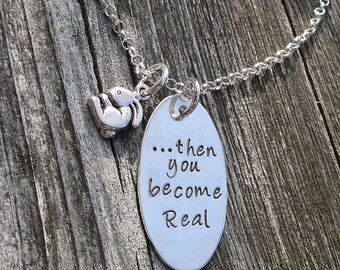Then you become Real - Velveteen Rabbit Mother's Necklace