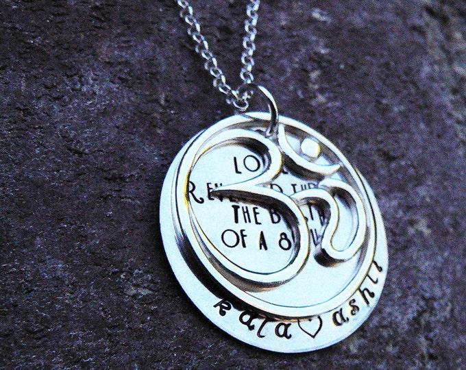 Love's Revealed - Om Necklace - Solid sterling