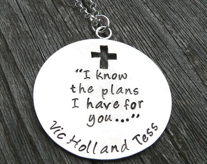 I Know the Plans I Have for You - Custom Sterling Mother's Necklace