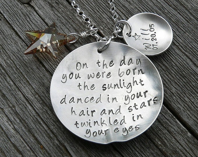 On the Day You Were Born... Necklace...Personalized