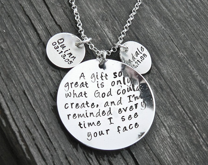 A Gift So Great...personalized necklace