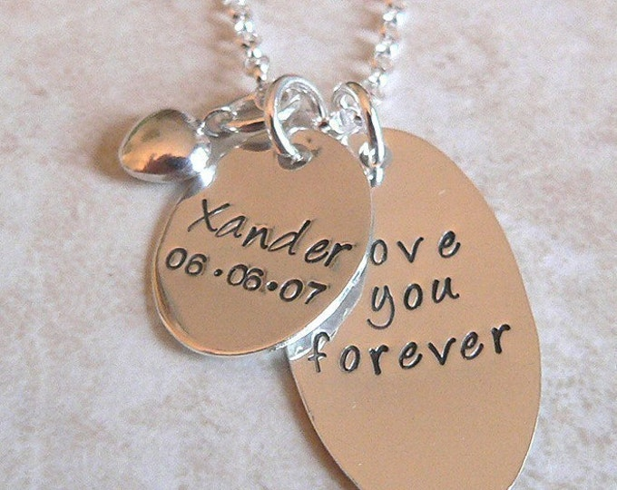 Love You Forever...Custom Sterling Mothers Necklace (1 tag)