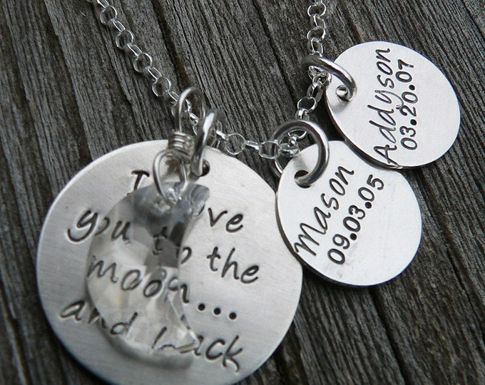 Love You to the Moon...with 2 personalized tags