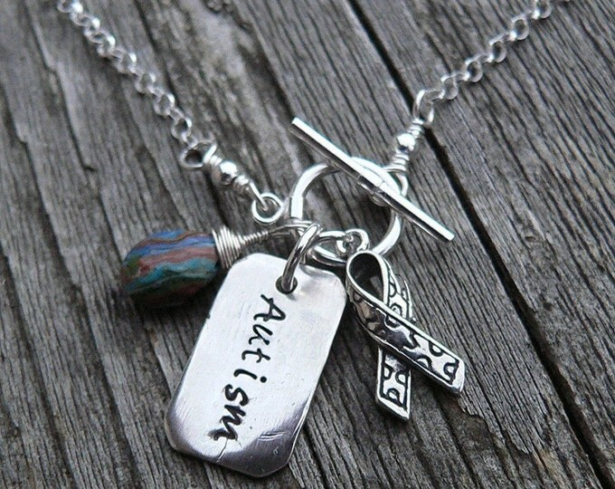 Custom Engraved Baby Dogtag Necklace with Gemstone and Charm