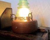 Vintage Glass Insulator Lamp