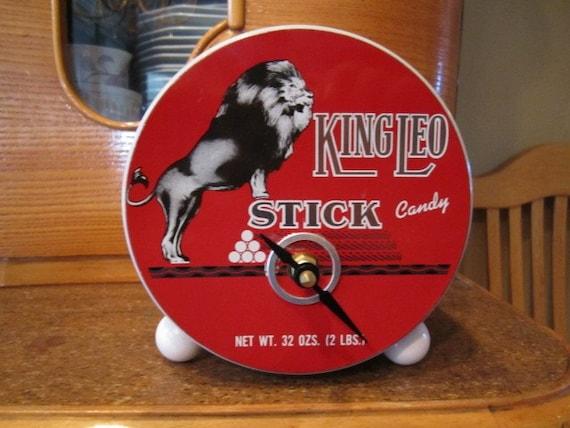 King Leo Candy Tin Clock