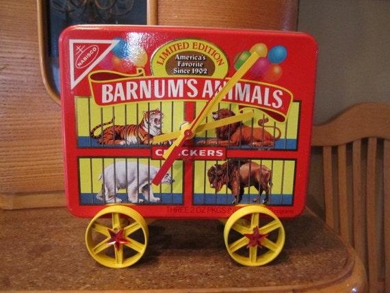 Barnum's Animals Tin Clock