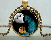 Halloween Jewelry | Halloween Necklaces | Spooky Black Cat Pendant | Cat Pendant | Cat Jewelry | Gifts Under 25 | No. 6001